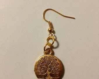Gold Family Tree Earrings