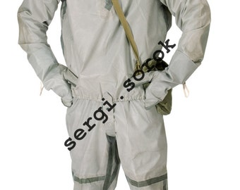 Soviet military army chemical protection rubber suit L-1 New