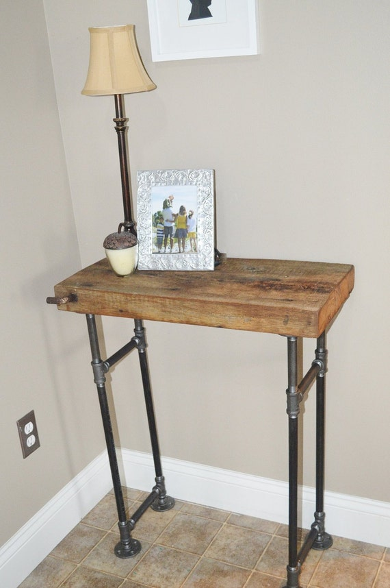 Foyer Table Etsy : Barn wood foyer table by caseconcepts on etsy