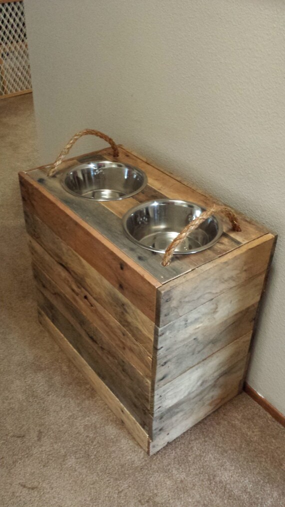 24 Tall Custom Large Dog Reclaimed Dog Food Bowl