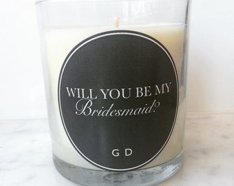 Lavender Lullaby Scented Will You Be My Bridesmaid Candle
