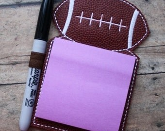 Digital Download  Football Sticky Notepad Holder Embroidery Machine Design for the 5x7 hoop