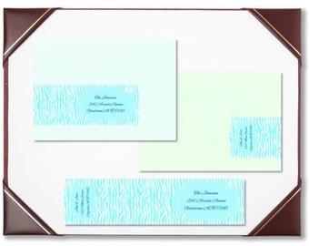 Envelope wraps aqua woodgrain wraparound address labels personalised labels invitations wedding engagement bridal shower baby shower