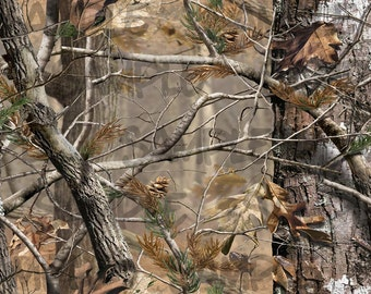 Real Tree CAMO Edible Image 1/4 Quarter Sugar Sheet Cake Topper Great for STRIPS