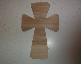 """QTY 30, Wood Cross, Wooden Crosses, Cross Cut Out, Vacation Bible School, VBS, Teachers, Churches, Craft Wood - 9"""" X 6"""" - Cut to Order"""
