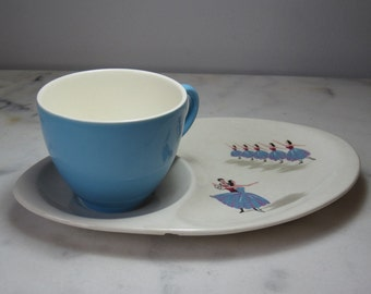 A Beautiful Beswick Ballerina Cup And Saucer