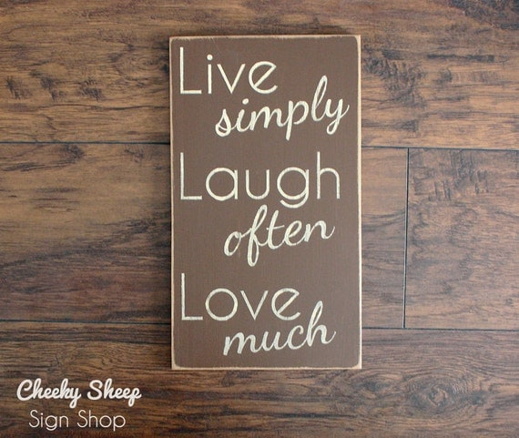 Items similar to wall decor home decor live simply laugh for Live simply wall art