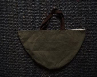 vintage recycled canvas market tote / book bag