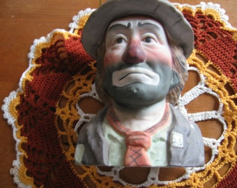 Emmett Kelly Ceramic Music Box