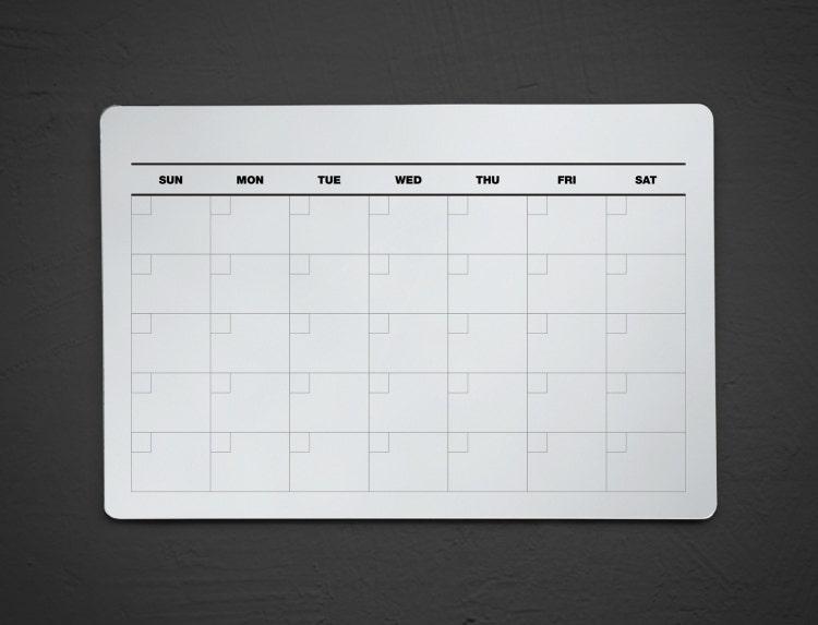 Dry Erase Calendar Canada : Acrylic dry erase calendar wall fridge by