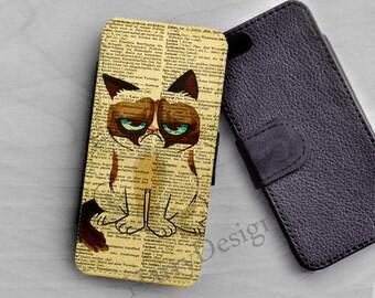 The Grumpy cat tard, Wallet case, iPhone 6, iPhone 4 / 4s / 5 / 5s /5c case, Samsung Galaxy S3 / S4 /S5/ S6 case, Samsung Note 2 3 4 case