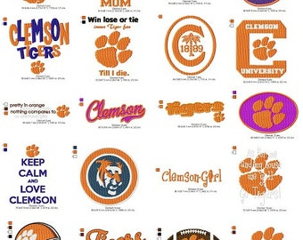 Clemson Embroidery Collection