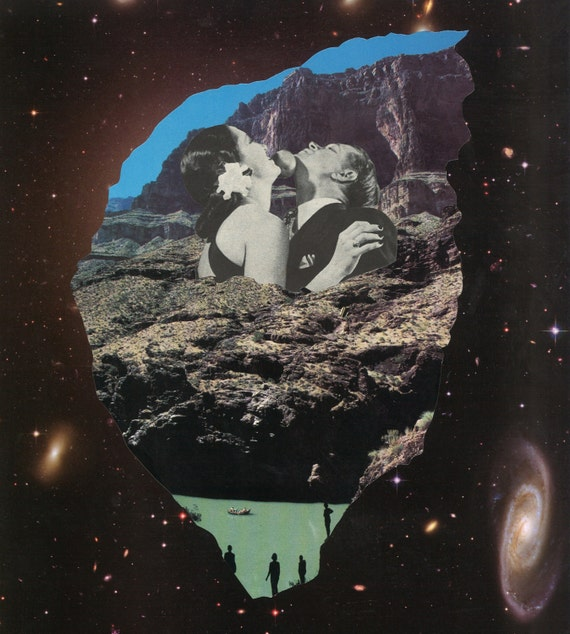 Rare Wonderful 1950s Space Art: Items Similar To Homo Sapiens, Aliens, Outer Space, Space