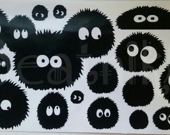 Soot Ball from spirited away, soot sprite, sootballs vinyl decal