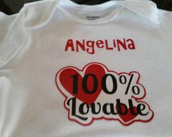 100% Loveable Onesie