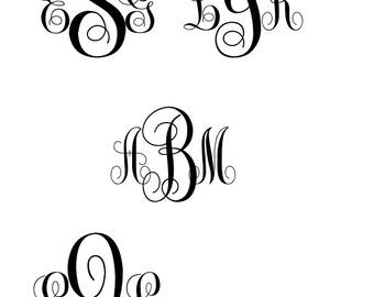 Custom Monograms - digital download