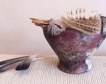 Raku fired bowl