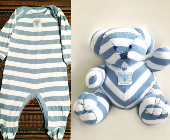 Memory Bear, Sleeper Bear, Onesie Stuffed Animal ,Teddy Keepsake, Baby ...