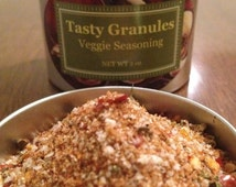 Tasty Veggie Seasoning. Custom blend. All natural ingredients. Great mix for all vegetable dishes.