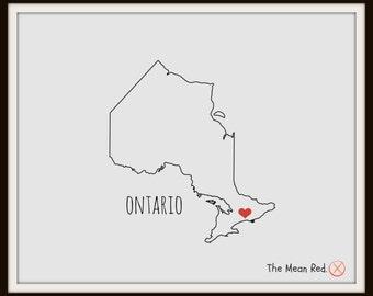 Ontario Print - Hometown Print - Canada - Digital Art Print