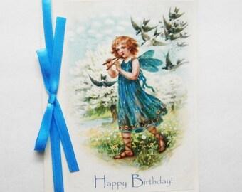 Fairy Birthday Card, Fairy Greeting Card, Girl Birthday Card, Happy Birthday Card, Birthday Fairy, Sweet Birthday Card, Blank Birthday Card