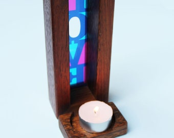 Love Lightbox with tealight candle holder