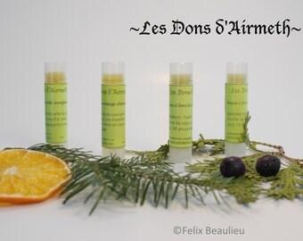 Baume à lèvre Des Bois végétaliens à base de plantes médicinales (Des Bois vegan lip balm)