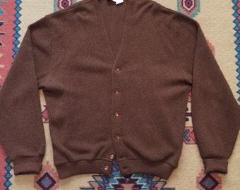 Vintage 1960s Jantzen Wool Cardigan Size XL Made In USA
