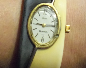 Vintage Dior Bulova Watch Bracelet
