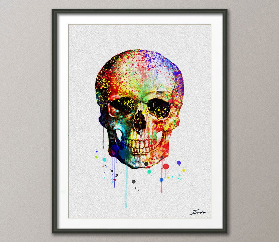 Sugar Skull Bathroom Decor Skull Print Etsy