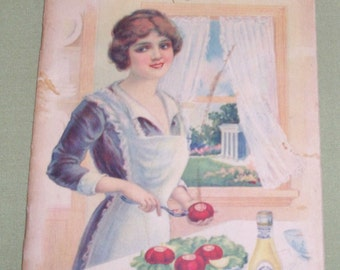 Vintage Yacht Club Manual of Salads Cook Book - Colorful Illustrations