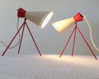 Pair JOSEF HURKA Table Lamps '1618' for NAPAKO Mid Century Modern