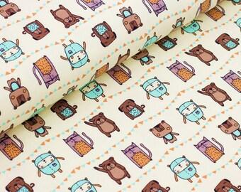 Organic Jersey: Freunde für immer - Designer Fabric  (0.5 m)