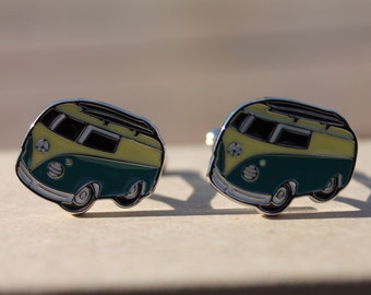 VW Volkswagen Bus Cufflinks