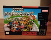 SNES Super Mario Kart  Repro Box and Insert NO Game Included