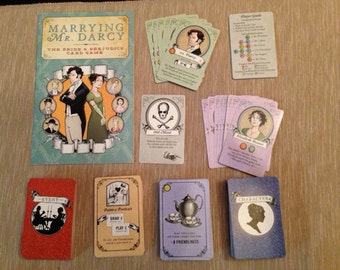 Marrying Mr. Darcy: the Pride and Prejudice Card Game PDF Print & Play