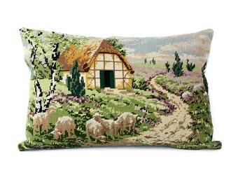 Lavender Lamb throw pillow cover
