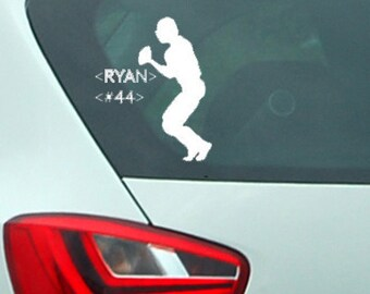 Football Window Decal Personalized | Personalize With Your Childs Name