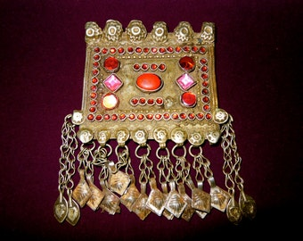 Kuchi Tribal Afghan Pendant Ethnic Gypsy Jewelry Original