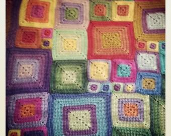 Crochet blanket, Klimt style.