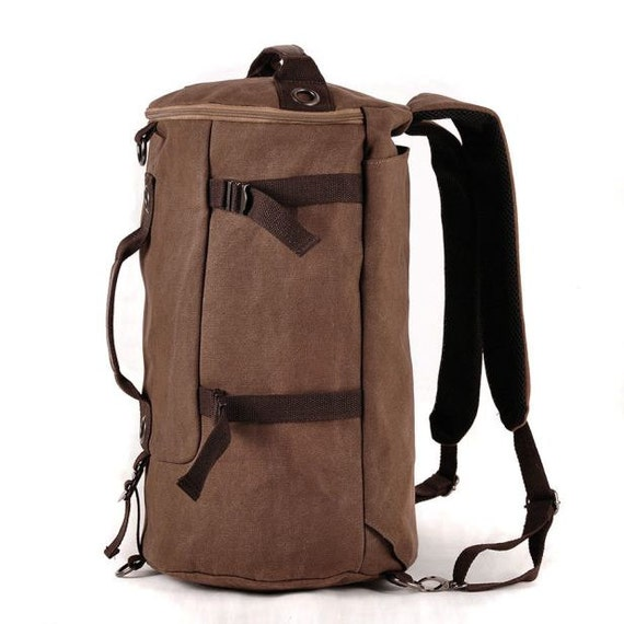 Vintage Soft Canvas Backpack Rucksack Laptop Shoulder Travel Hiking Camping Bag, Bucket Bag Backpack Large Capacity, Men's Accessories