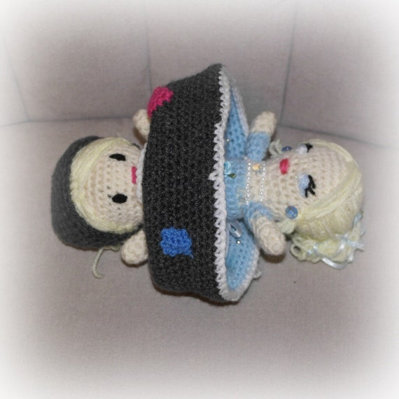 Knitting Pattern For Reversible Doll : Items similar to New Cinderella 2015 Knitted Pulsh ...