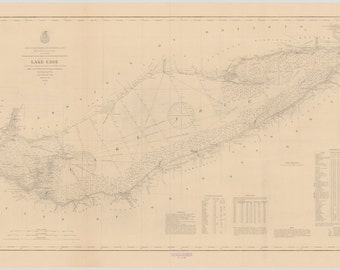 Lake Erie Historical Map 1897