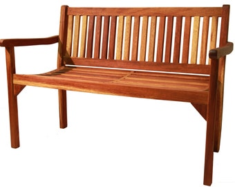 Two seater Garden Bench KOUTAL in solid wood