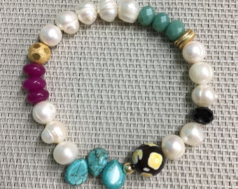 DIY freshwaters mix with GC looses bracelet mix