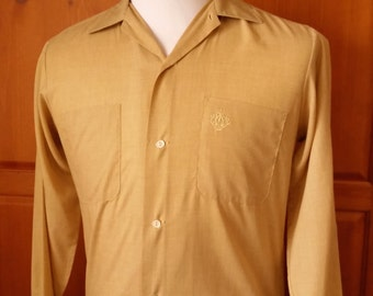 Vintage 1940s/1950s Diplomat Shirt 14 1/2 Size Small