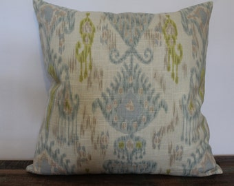 Blue Green Off White Beige Pillow Cover, Pillow Case