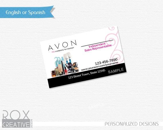 Avon Sales Representative Business Card Digital Design