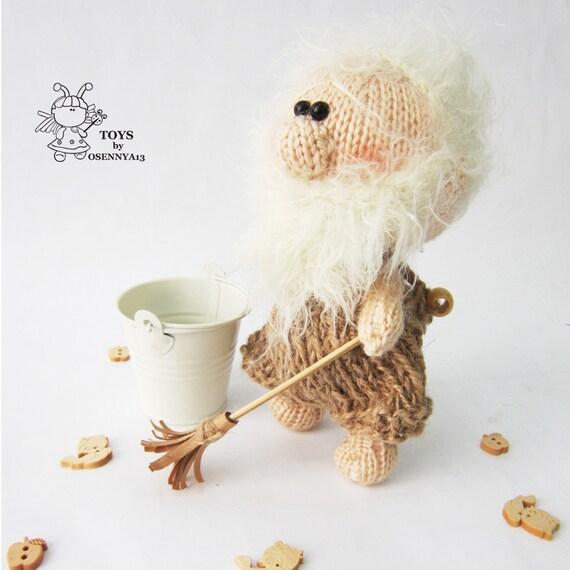 Doll Brownie house spirit. Knitting Softie Brownie house ...