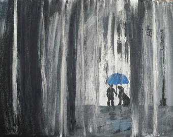 """Unique Acrylic painting. """"A boy and his best friend"""""""